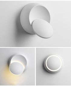 Unique Modern Design The Corbin wall lamp dazzles with a gorgeous circular LED that appears to defy gravity as it hangs from its base. The perfect bedside light, and a beautiful addition to bathrooms and hallways. Premium full metal construction. Suitable for use between 90V-260V LED light bulb included! Free shipping worldwide 100% Money Back Guarantee! Due to high demand, please expect 2-4 weeks for items to arrive. Limit 10 per person. 100% Satisfaction Guaranteed Don't love your items? Retur Wall Mounted Lamps, Led Wall Lamp, Bedside Lighting, Living Room Lighting, Modern Lighting, Lighting Design, Led Light Design, Luminaire Original, Led Light Fixtures