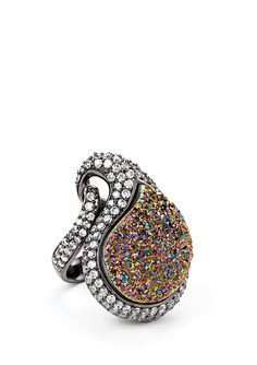 ANDARA Big Teardrop with CZ Border                                      $84.99