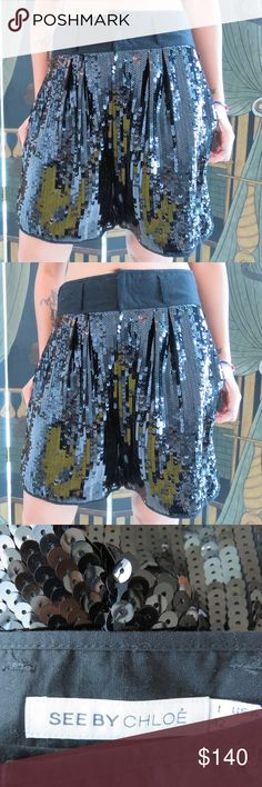 See by Chloe shorts See by Chloe. Black sequins high waisted shorts with pockets. Size 6. (EUC, NWOT) See by Chloe Shorts