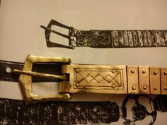 Gotland viking lamellar belt, made by Einarr & Ingvar