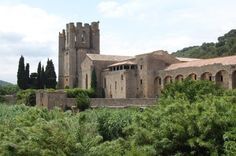 Lagrasse the capital of the Corbieres wine region in Languedoc Roussillon, France...