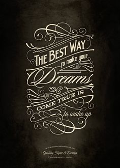 The Best Way | Typography poster by Tomasz Biernat, via Behance