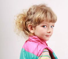 Learn how to create this 'organized mess' of a hairstyle on your little girl in a few simple steps... http://www.latest-hairstyles.com/kids/fall.html