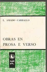 Resultado de imaxes para amado carballo obras en prosa e verso