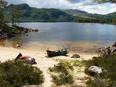 Loch Maree - Scotland My boys have played in the water by this beach.