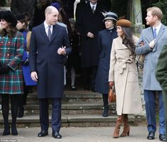 Meghan quickly reached for Harry's arm once the Queen was settled in her car. She was instantly more at ease and returned to small talk with Prince William . Harry reverted to his 'paperclip' hand gesture, stuffing his hand in his coat, which body language experts said was a way of comforting himself