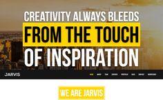 Jarvis - Best Premium WordPress One-Page Themes 2017