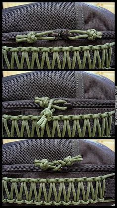 When traveling, do this tuck & they can't quickly open your bag & get stuff out! Lanyard knot zipper pull security tuck: