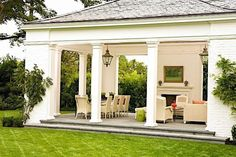 Love this outdoor area, Portico, gazebo porch,
