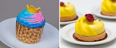 The first-ever World Princess Week, part of the Ultimate Princess Celebration, starts August 23 and celebrates the courage and kindness displayed by Disney Princesses and Queens. Orange Buttercream, Strawberry Buttercream, Disney Food, Disney Parks, Walt Disney, Disney Hotels, Chocolate Chiffon Cake, Coconut Mousse, Cinderella Cupcakes