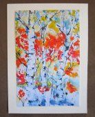 Abstract Autumn Trees Abstract Greeting Card Autumn Dance Alders  #Venus  #thecraftstar  $5.00