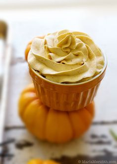 Pumpkin Whipped Cream--made with coconut milk, so it's also vegan...use as a topping for drinks, baked goods or even as a frosting