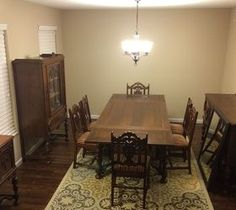How Can I Modernize My Antique Dining Room Husband Inherited An