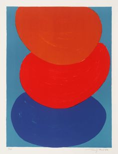 ymutate:  Sir Terry Frost Straw Orange Blue 1972