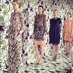 Matching the backdrop at the Nahm NYFW fall-winter '12 presentation  http://web.stagram.com/n/refinery29