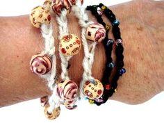 Image for Bracelet - Rustic Crochet & Beads DIY Craft Project
