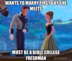 Bible college freshman