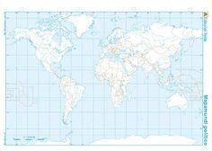 Mapa planisferio politico - Nocturnar