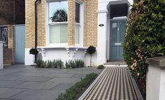 Ideas For White Front Door Exterior Victorian Terrace Front Garden Ideas Driveway, Brick Driveway, Driveway Landscaping, Walkway, Victorian Front Garden, Victorian Terrace House, Edwardian House, Edwardian Hallway, Best Exterior House Paint