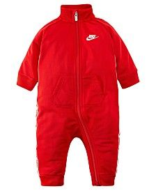 Nike Baby Boys Logo-taping Full-zip Coverall In Fire Nike Newborn, Tricot Fabric, Baby Nike, Nike Kids, Athletic Fashion, Athletic Style, Baby Halloween Costumes, Sporty Look, Everyday Outfits