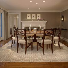 Dining room color scheme by Stephen Knollenberg -
