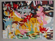 by Miguel Malinconico pintura esmalte sintetico sobre madera 40 x 35cmts
