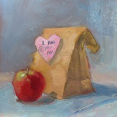 Ready for the first day of school.... http://www.dailypaintworks.com/Artists/carol-josefiak-3555