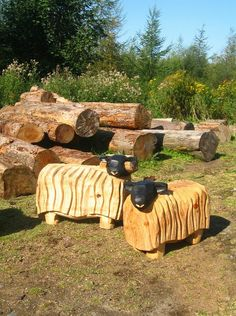 These exquisite carved sheep would make fantastic gifts, but if your own back garden is a little bit bland then why not get one for yourself? Carved sculptures will light up your garden and brighten your day every time you see them - they're absolutely essential if you want a truly beautiful garden!
