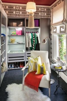 Chic walk-in closet by Shelley and Co.