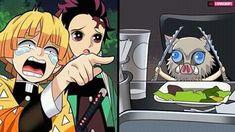 Read ʚ 11 ɞ from the story Demon Slayer {MEMES} by coronika (❥ 𝐝𝐚𝐧 ! Me Anime, Anime Demon, Manga Anime, Anime Art, Anime Girls, Manga Girl, Slayer Meme, Video X, Dragon Slayer