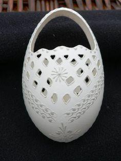 Madeirové kraslice - košíček - HUSÍ