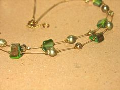 Necklace and Earring Sets : Pure Green & Gold Set