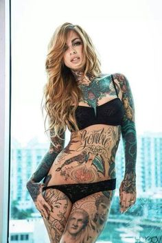 Tattooed Model and Artist Little Linda