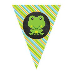 EDITABLE || Frog Pennant Banner