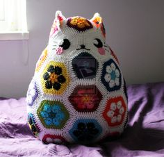 Crochet Cat Pillow by circummisso.deviantart.com on @deviantART