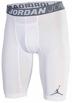 28324a7f80dda1 Amazon.com  Men s Nike Jordan Hypercool Compression Shorts White  640453-100  Sports   Outdoors