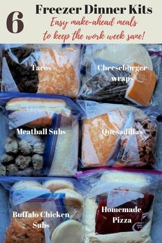 ahead freezer meals: My 6 Favorite Freezer Meal Kits! Make ahead freezer meals.Make ahead freezer meals. Freezable Meals, Budget Freezer Meals, Freezer Friendly Meals, Make Ahead Freezer Meals, Crock Pot Freezer, Freezer Cooking, Healthy Meals, Freezer Recipes, Camping Recipes