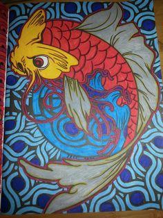 L phant du livre bestiaire art th rapie pinterest for Livre carpe koi