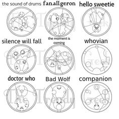 Doctor Who words/phrases in Gallifreyan | The Trendy Geek