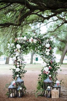 Floral arch with air plants