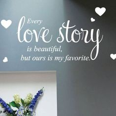 Every Love Story Wall Quote Stickers Wall Decals Words Lettering Wall Stickers, Wall Decals, Wall Quotes, Love Story, Place Card Holders, Lettering, My Favorite Things, Words, Beautiful