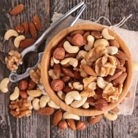 Tree Nuts Reduce Cancer Risk: a number of studies link increased nut consumption to reduced risks of obesity and type-2 diabetes – primary factors in colorectal cancer. Ying Bao, from Harvard Medical School studied 75,680 women, free of cancer at the study's start. Women who consumed a 1 oz serving of tree nuts (almonds, Brazil nuts, cashews, hazelnuts, macadamias, pecans, pine nuts, pistachios & walnuts) two or more times per week had a 13% lower risk for colorectal cancer.