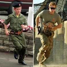 Even as a child Harry dreamed of being a soldier.