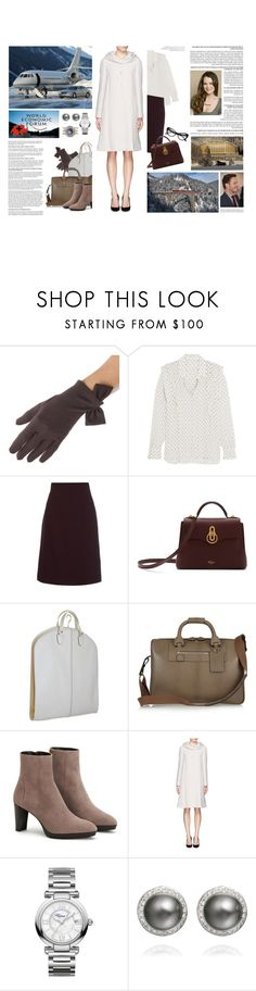 """""""Untitled #3185"""" by duchessq ❤ liked on Polyvore featuring Zone, See by Chloé, Goat, Mulberry, Valextra, Moncrief, Aquatalia by Marvin K., Armani Collezioni, Chopard and Michael Kors"""