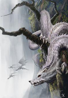 Dragon_Wolf, Vui Huynh on ArtStation at https://artstation.com/artwork/dragon_wolf