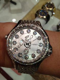 Fendi carats diamond watch. Dial Diamonds rotate to sapphires and mulit colored gems