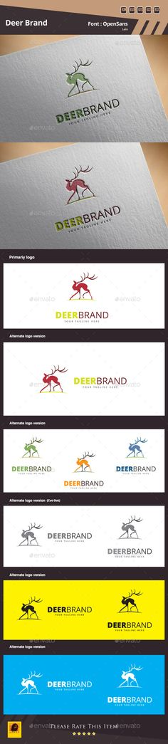 Deer Brand Logo Template (Transparent PNG, JPG Image, Vector EPS, AI Illustrator, TIFF Image, Resizable, CS, animal, Animal Logo, apps, cmyk, cool, cute, deer, Deer Logo Template, deer vector, head, logo, Logo Deer, logo design, png, shillhouete, vector, vector logo, wild)