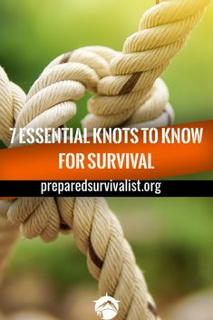 While there are tons of different survival skills We can all agree that knowing how to tie different kinds of knots is essential to surviving any disaster. there are many different knots that you can use in any survival situation but here are the top 7 su Survival Knots, Survival Food, Outdoor Survival, Survival Prepping, Emergency Preparedness, Survival Skills, Survival Weapons, Zombies Survival, Emergency Preparation