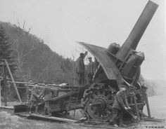 "Big Bertha (nicknamed by German troops after Bertha Krupp von Bohlen und Halbach) is the name of a heavy 42-cm (16.5"") howitzer developed by the German armaments manufacturer Krupp at the beginning of the Great War. One of these howitzers was used to destroy the Belgian forts at Liège, Namur and Antwerp."