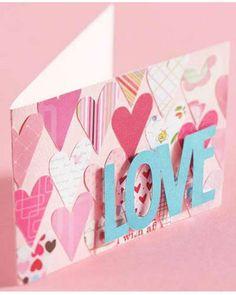 Lovely hearts card